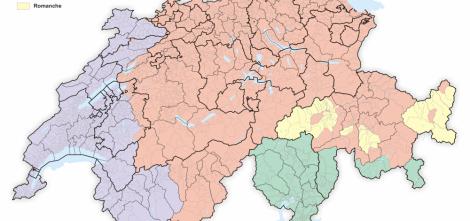 Carte suisse langues